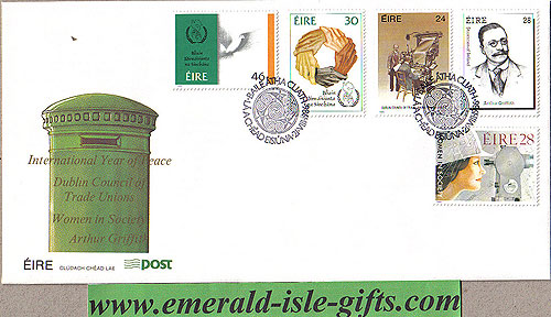 Ireland 1986 Fdc Anniversaries Griffith Etc (an Post)