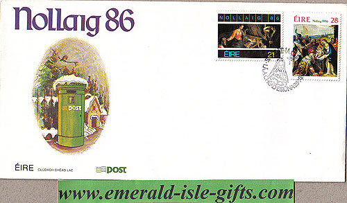 Ireland 1986 Fdc Christmas First Day Cover (an Post)
