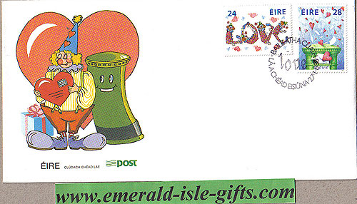 Ireland 1988 Fdc Love Stamps First Day Cover (an Post)