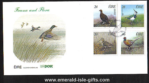 Ireland 1989 Fdc Game Birds Of Ireland (an Post)