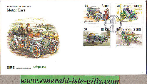 Ireland 1989 Fdc Vintage Motor Cars First Day (an Post)