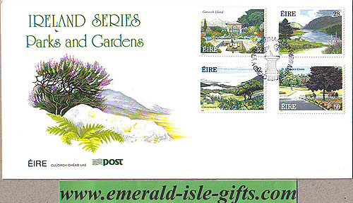 Ireland 1989 Fdc Parks & Gardens First Day (an Post)