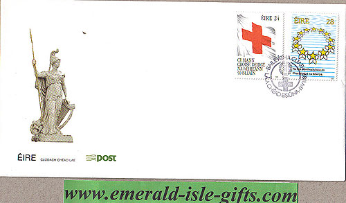 Ireland 1989 Fdc Red Cross & Europe Elections (an Post)