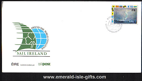 Ireland 1989 Fdc Sail Ireland Round The World (an Post)