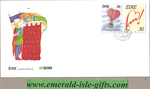 Ireland 1990 Fdc Love Stamps First Day Cover (an Post)