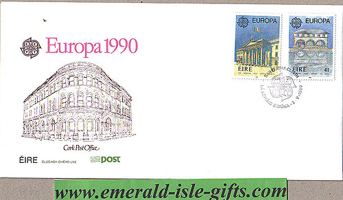 Ireland 1990 Fdc Europa First Day Cover (an Post)