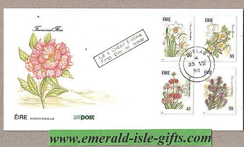 Ireland 1990 Fdc Garden Flowers First Day (an Post)