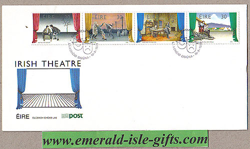 Ireland 1990 Fdc Irish Theatre First Day (an Post)