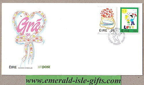 Ireland 1991 Fdc Love Stamps First Day Cover (an Post)