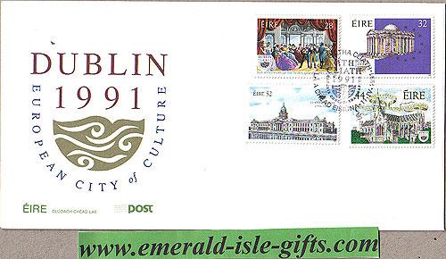 Ireland 1991 Fdc Dublin European City Culture (an Post)
