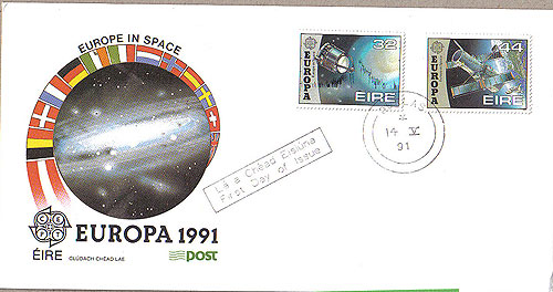 Ireland 1991 Fdc Europa First Day Cover (an Post)