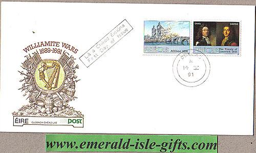 Ireland 1991 Fdc Williamite Wars Part 2 (an Post)