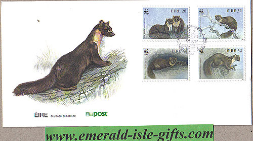 Ireland 1992 Fdc Wwf Pine Marten (an Post)