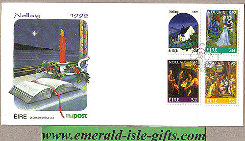 Ireland 1992 Fdc Christmas First Day Cover (an Post)