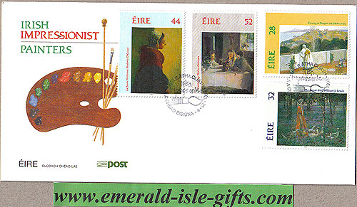 Ireland 1993 Fdc Irish Impressionist Painters (an Post(