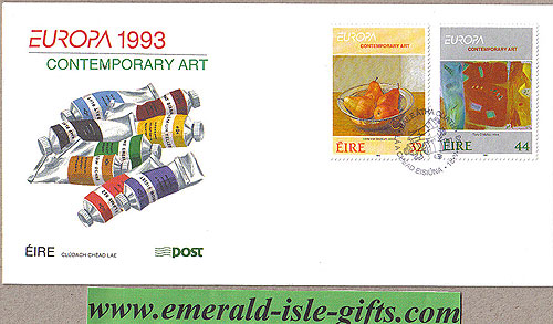 Ireland 1993 Fdc Europa: Contemporary Art (an Post)