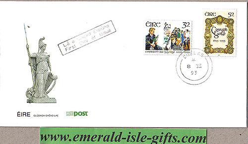 Ireland 1993 Fdc Conradh Na Gaeilge (an Post)