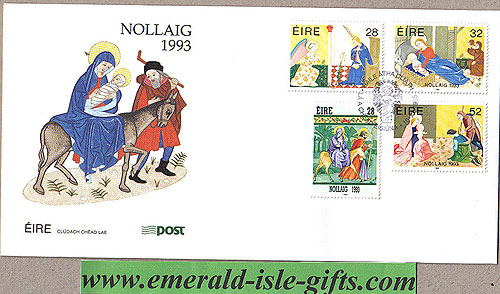 Ireland 1993 Fdc Christmas First Day Cover (an Post)