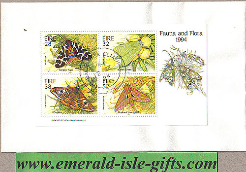 Ireland 1994 Fdc Moths Miniature Sheet (an Post)