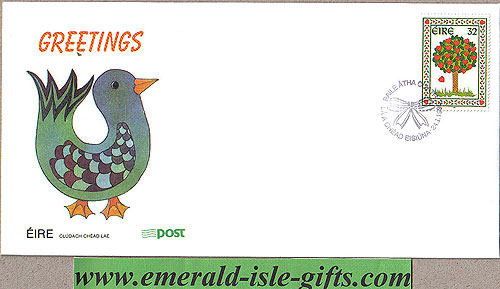 Ireland 1995 Fdc Love Stamp First Day Cover (an Post)