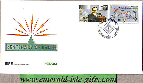Ireland 1995 Fdc Marconi / Centenary Of Radio (an Post)
