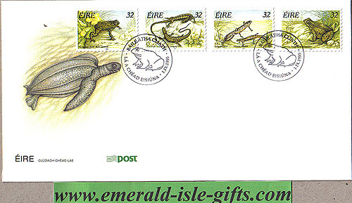Ireland 1995 Fdc Reptiles Amphibians Self Adh (an Post)