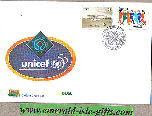 Ireland 1996 Fdc Anniversaries Unicef Etc (an Post)
