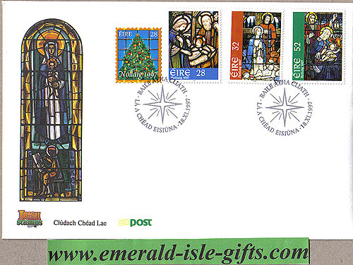 Ireland 1997 Fdc Christmas First Day Cover (an Post)