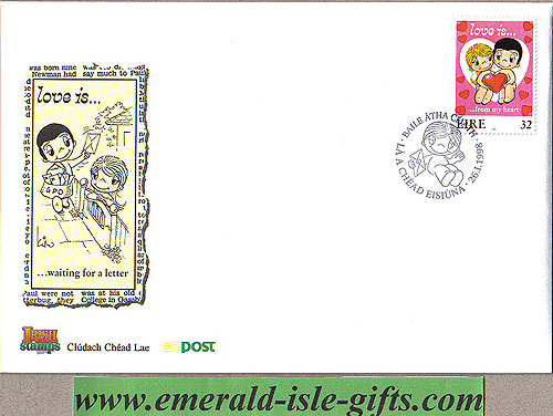 Ireland 1998 Fdc Love Stamp First Day Cover (an Post)
