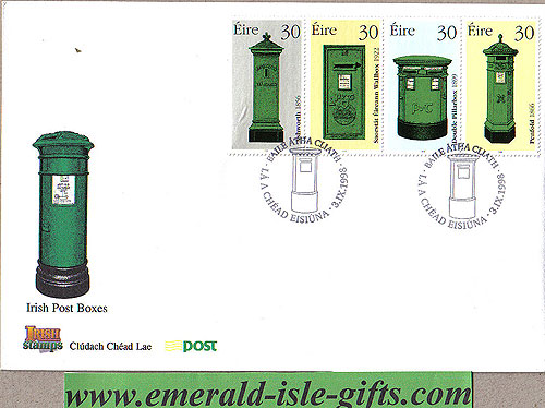 Ireland 1998 Fdc Irish Postboxes First Day (an Post)