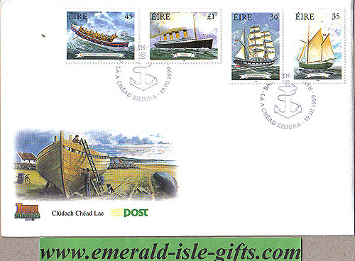 Ireland 1999 Fdc Maritime History (an Post)