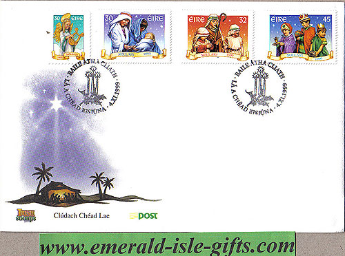 Ireland 1999 Fdc Christmas First Day Cover (an Post)