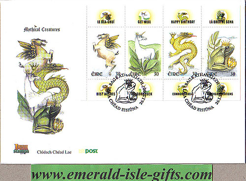 Ireland 2000 Fdc Greetings Mythical Creatures (an
