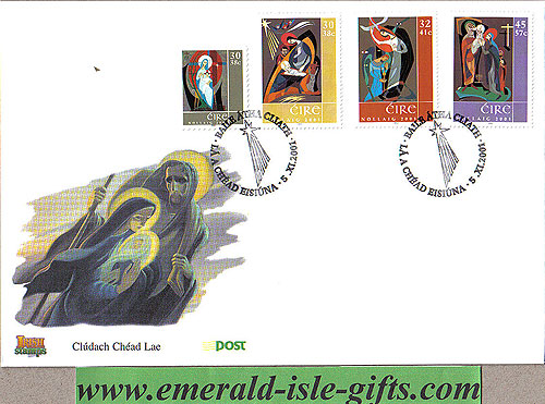 Ireland 2001 Fdc Christmas First Day Cover (an Post)