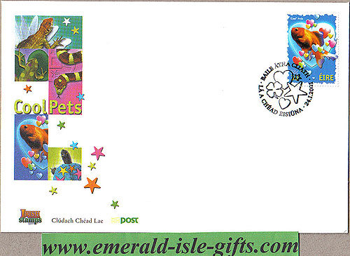Ireland 2001 Fdc Love Stamp: Goldfish (an Post)