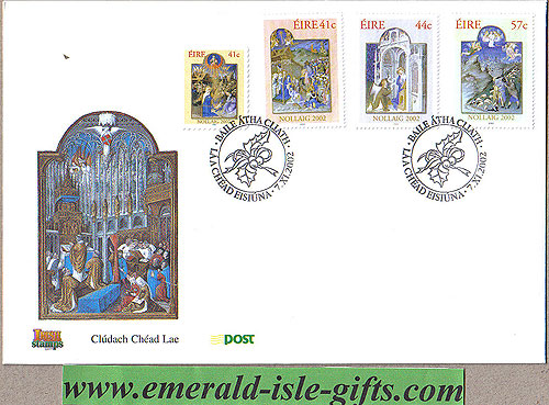 Ireland 2002 Fdc Christmas First Day Cover (an Post)