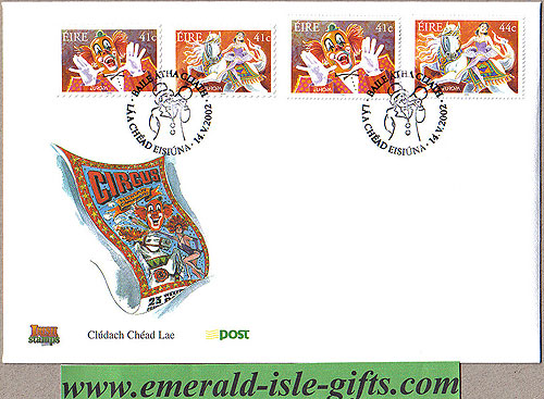 Ireland 2002 Fdc Europa: The Circus (an Post)