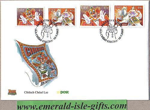 Ireland 2002 Fdc Europa: The Circus (an Post)