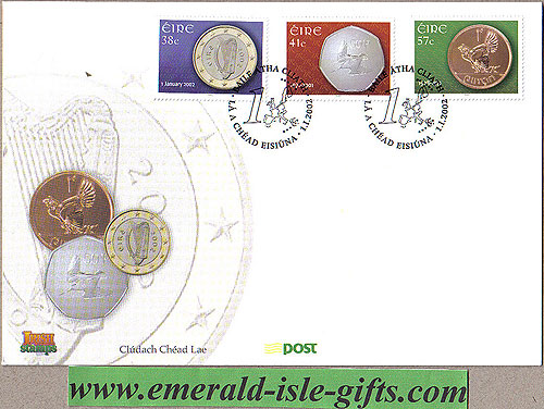 Ireland 2002 Fdc Introduction Of Euro (an Post)