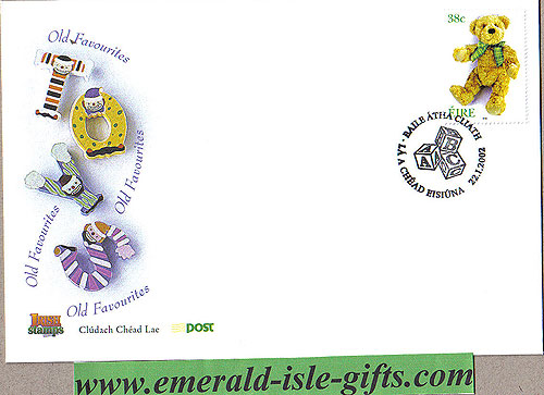 Ireland 2002 Fdc Love Stamp Teddy Bear (an Post)