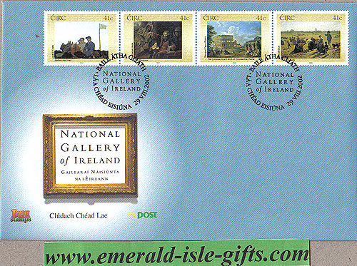 Ireland 2002 Fdc Irish National Gallery Part 1 (an Post