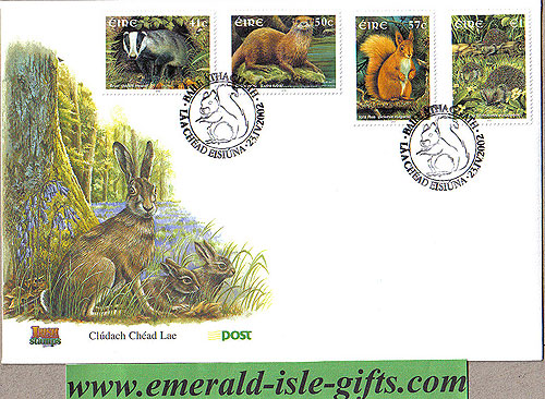 Ireland 2002 Fdc Native Irish Mammals (an Post)