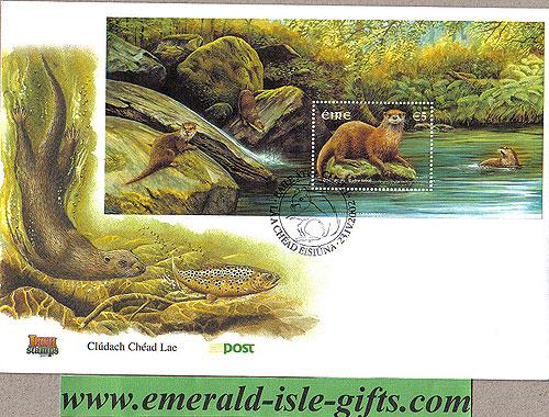Ireland 2002 Fdc Native Irish Mammals Min Sheet