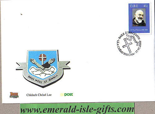 Ireland 2002 Fdc Canonisation Of Padre Pio (an Post)