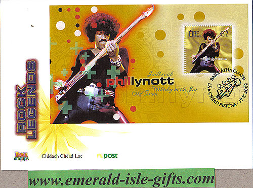 Ireland 2002 Fdc Phil Lynott Miniature Sheet (an Post)