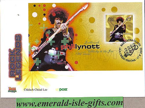 Ireland 2002 Fdc Phil Lynott Miniature Sheet (an Post)