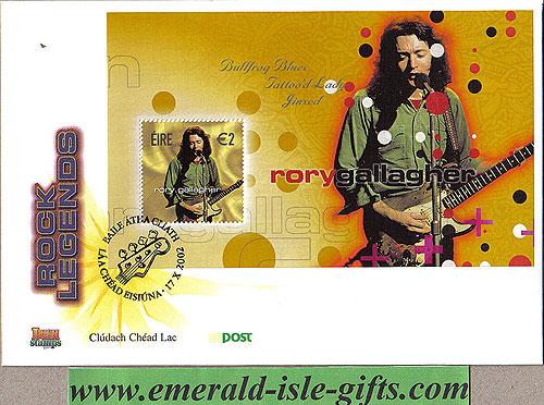Ireland 2002 Fdc Rory Gallagher Min Sheet (an Post)