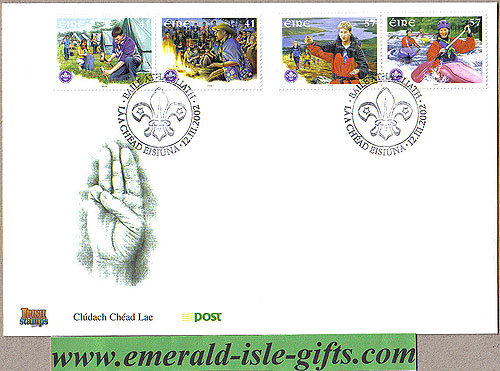 Ireland 2002 Fdc Scouting In Ireland Anniv. (an Post)