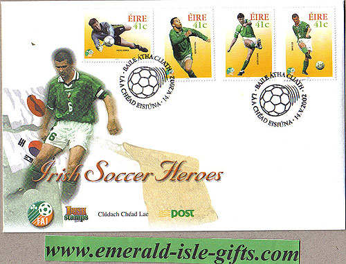 Ireland 2002 Fdc Soccer Heroes Roy Keane Etc (an Post)
