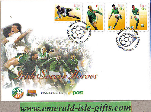 Ireland 2002 Fdc Soccer Heroes Self Adhesive (an Post)